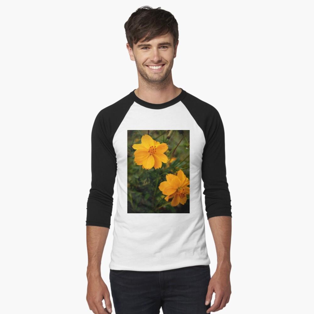 Golden Coreopsis Baseball ¾ Sleeve T-Shirt