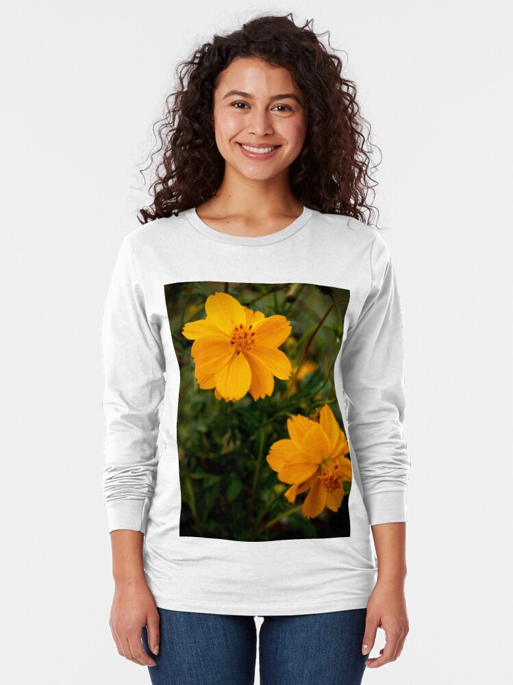 Alternate view of Golden Coreopsis Long Sleeve T-Shirt