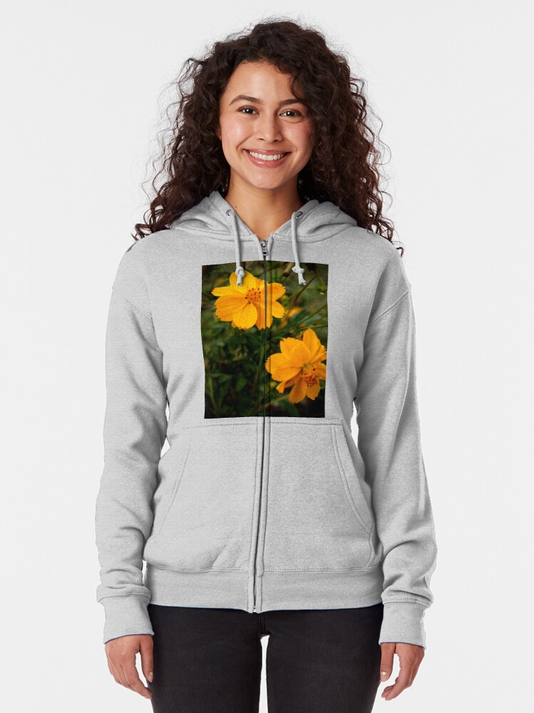 Alternate view of Golden Coreopsis Zipped Hoodie