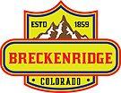 BRECKENRIDGE COLORADO Skiing Ski Mountain Mountains Snowboard by MyHandmadeSigns