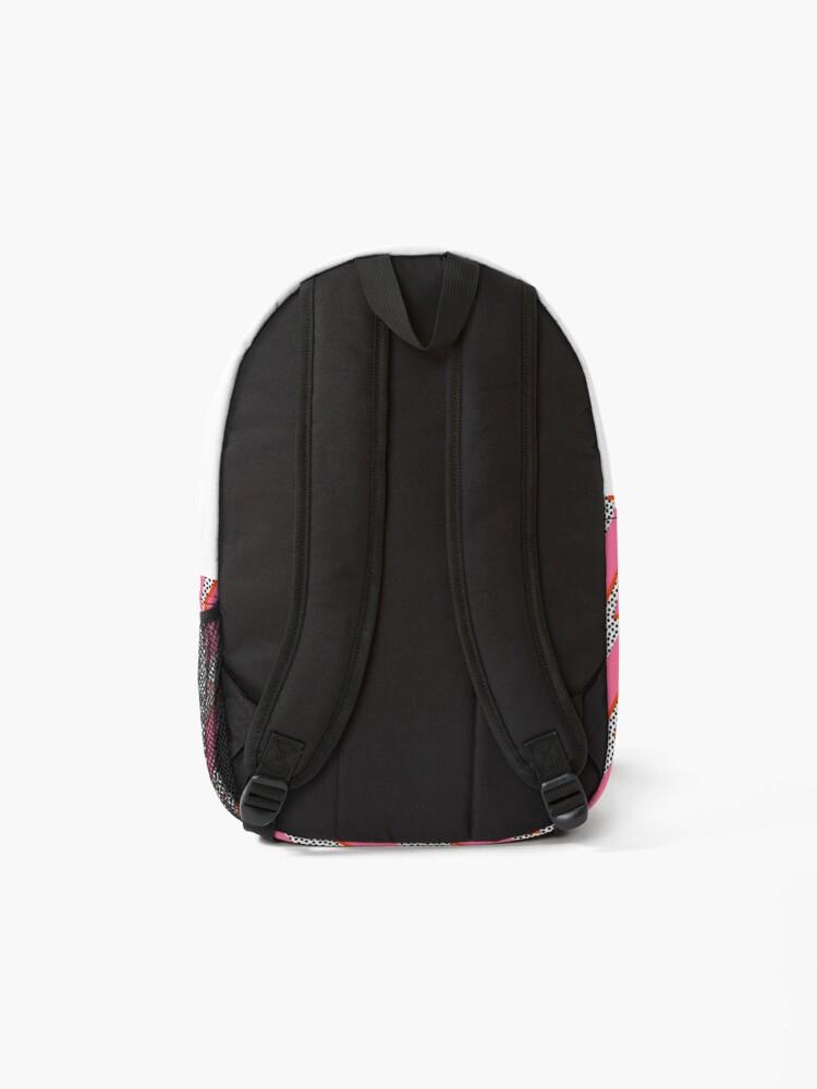 Alternate view of Lightning bolt thunder flash preppy pink Backpack