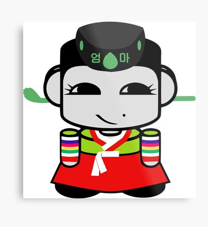 Umma Korean Geo'bot 1.0 Metal Print