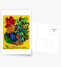 Plucky Rooster Postcards