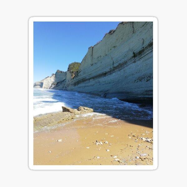 Greece Cliffs by the Ocean Sticker