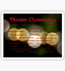 I Want to Wish You A Merry Christmas Sticker