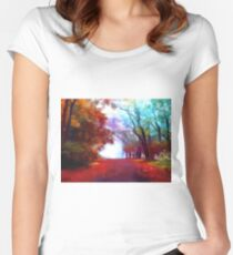 Autumn Forest Women's Fitted Scoop T-Shirt