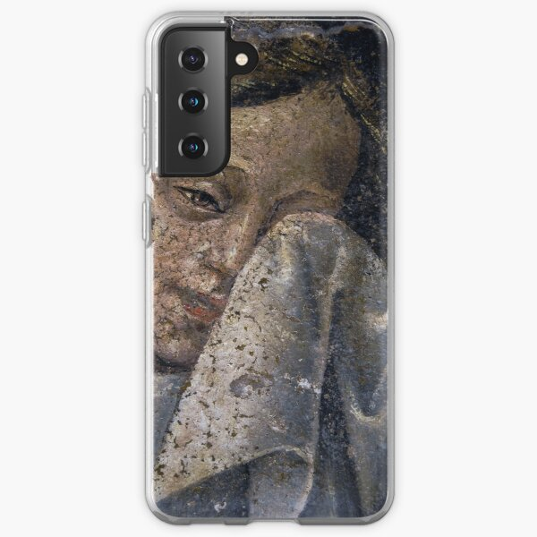 A weeping angel dries her tears Samsung Galaxy Soft Case