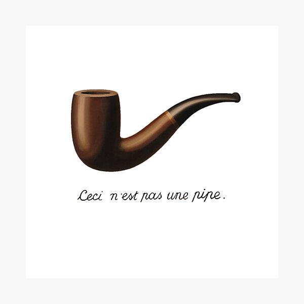 """""""Ceci n'est pas une pipe"""" Magritte René Photographic Print"""