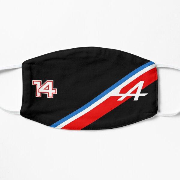 Fernando Alonso 14 Tricolore (Noir) - Alpine F1 2021 Masque sans plis