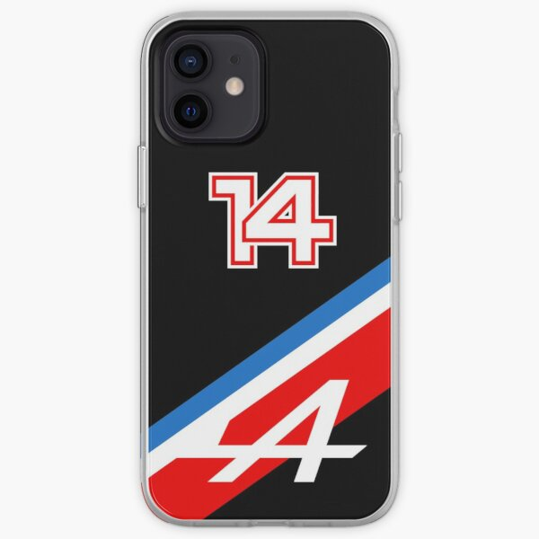 Fernando Alonso 14 Tricolore (Noir) - Alpine F1 2021 Coque souple iPhone