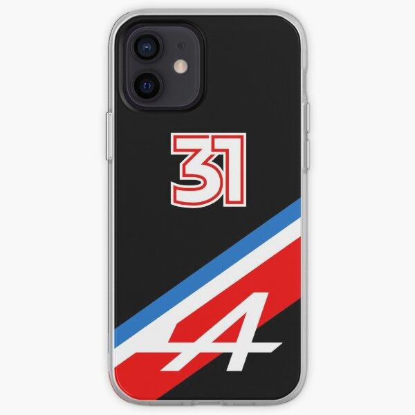 Esteban Ocon 31 Tricolore (Noir) - Alpine F1 2021 Coque souple iPhone