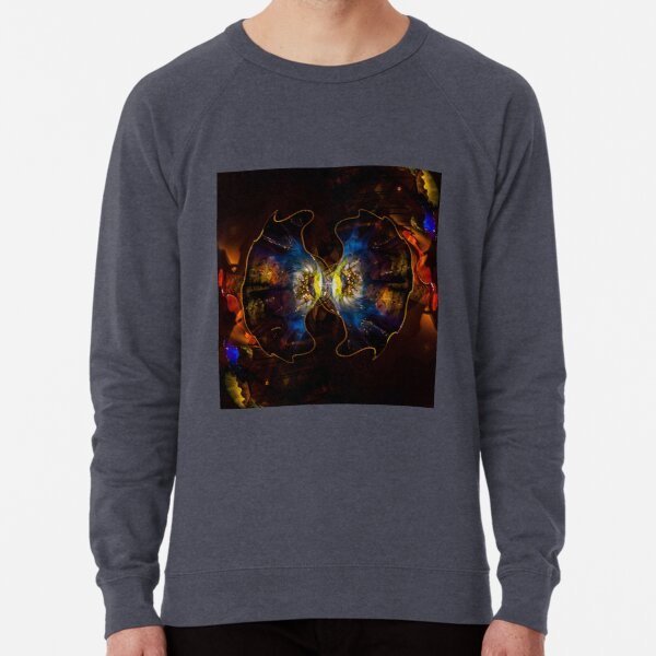ornamental pattern with purple color Lightweight Sweatshirt