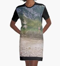 Reflecting Lake Graphic T-Shirt Dress