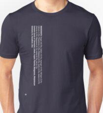 ingredients: (white version) Unisex T-Shirt