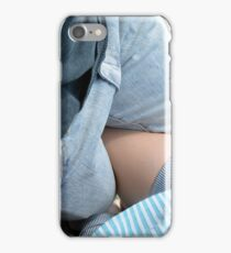 Young couple at a picnic in the park. iPhone Case/Skin