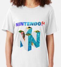 Vaporwave Nintendo 64 Slim Fit T-Shirt