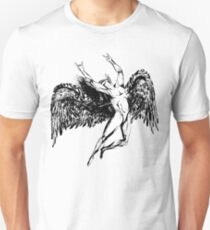 ICARUS THROWS THE HORNS - solid black  ***FAV ICARUS GONE? SEE BELOW*** T-Shirt