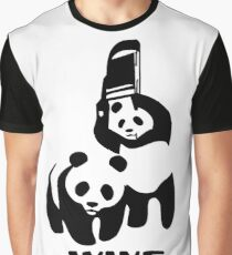 Panda Wrestling - ONE:Print Graphic T-Shirt