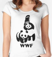 Panda Wrestling - ONE:Print Women's Fitted Scoop T-Shirt
