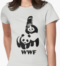 Panda Wrestling - ONE:Print Womens Fitted T-Shirt