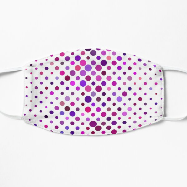 Ornamental pattern with purple color Flat Mask