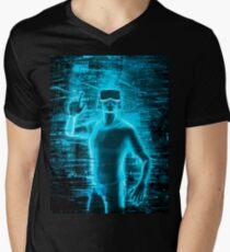 Virtual Reality User Men's V-Neck T-Shirt