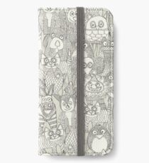 pencil pinatas ivory iPhone Wallet