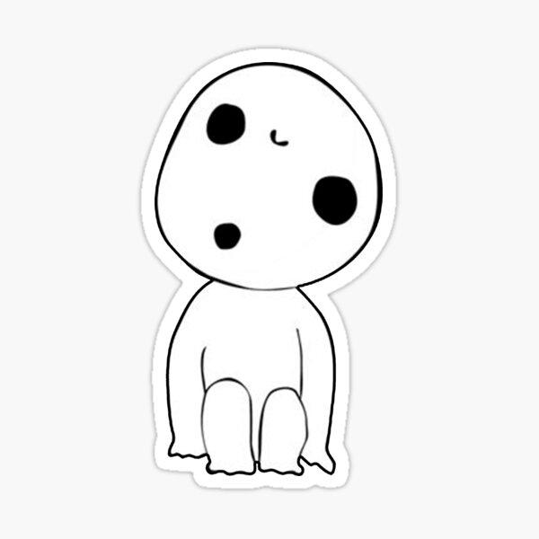 Kodama Little spirit Princess Mononoke Sticker