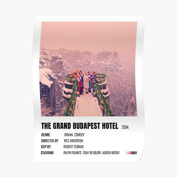 L'affiche minimaliste du Grand Budapest Hotel Poster