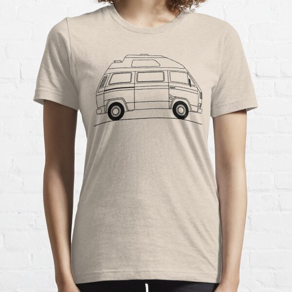 Transporter Hightop camper line art Essential T-Shirt