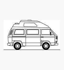Transporter Hightop camper line art Photographic Print