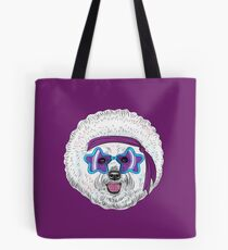 Star Disco dog Bichon Tote Bag