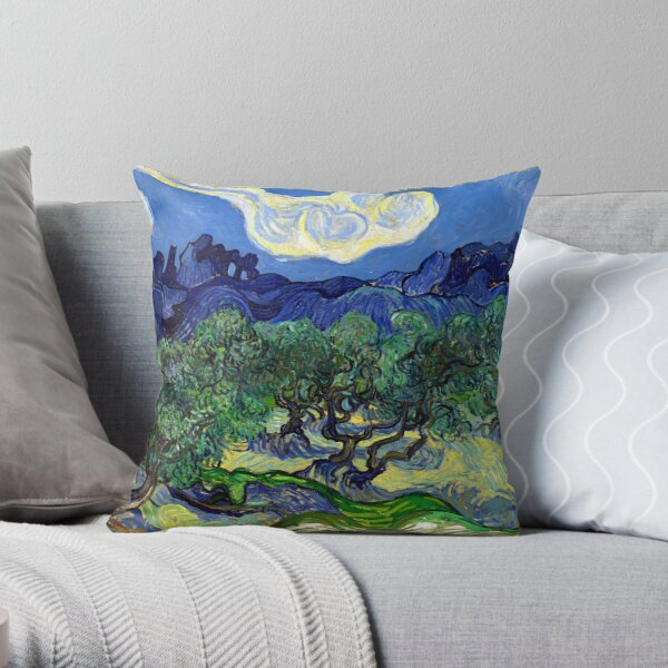 Vincent van Gogh The Olive Trees Throw Pillow