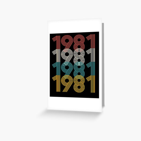 Vintage 1981 Shirt, 40th Birthday, gift for her Greeting Card