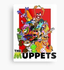 The Muppets Cartoon Metal Print