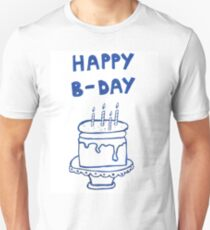 Happy birthday card with cake  T-Shirt