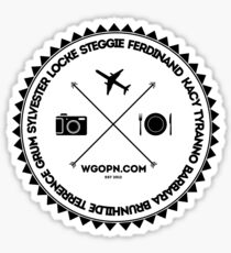 wgopn black on light Sticker