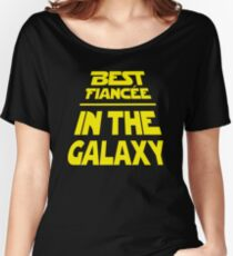 Best Fiancee in the Galaxy - Slanted Women's Relaxed Fit T-Shirt