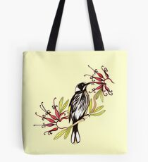 Honeyeater bird with grevillea flowers Tote Bag