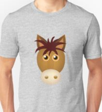 Horse face cartoon Unisex T-Shirt