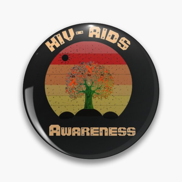 Retro vintage for woman  National Women and Girl's HIV/AIDS Awareness Day 2021 (10 March) sticker: HIV/AIDS Awareness Day 2020 : Theme, Quotes, Speech, Poster, Slogan, Logo, Significance, Messages. Pin