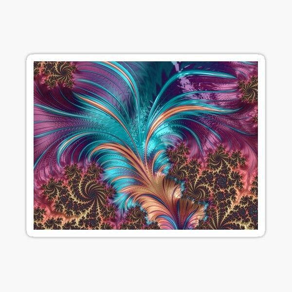 Ornamental pattern with purple color Sticker