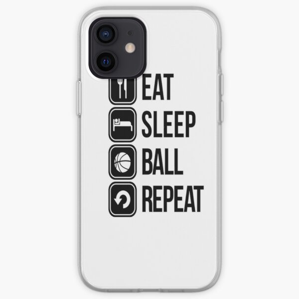 EAT, SLEEP, BALL and REPEAT iPhone Soft Case