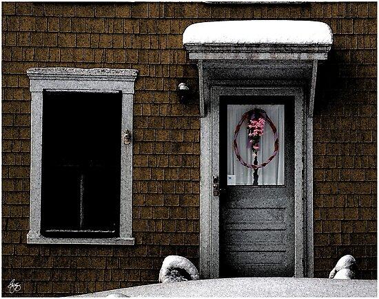 Winter Wreath on George Road by Wayne King