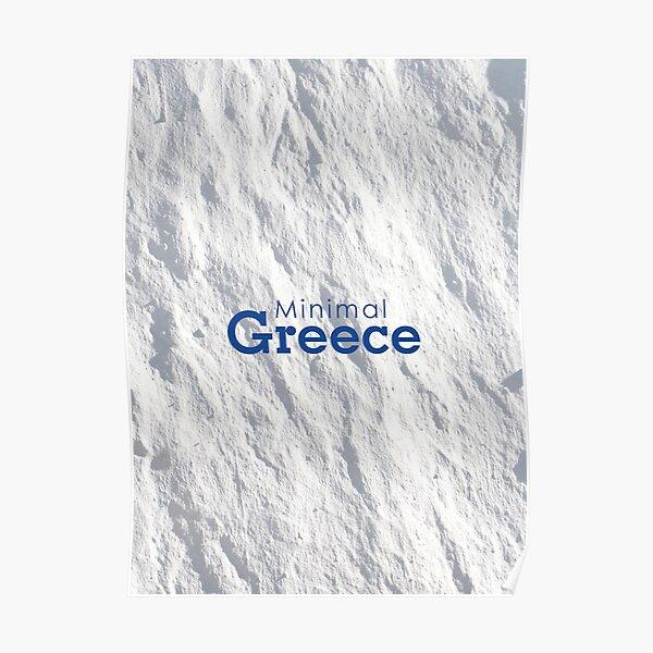 Minimal Greece. Poster