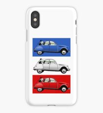 Citroën 2CV red, white and blue iPhone Case/Skin