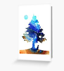 Contemplation - Dog Art Painting Greeting Card