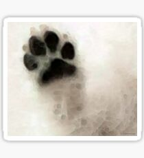 Dog Art - I Paw You Sticker