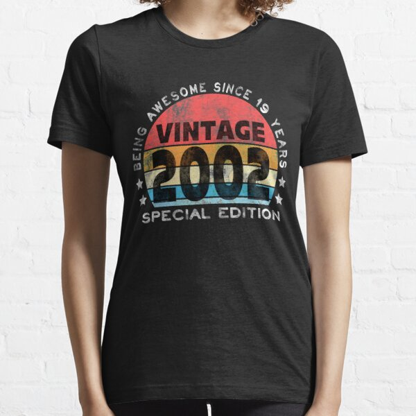 19th Birthday 2002 Awesome Vintage Special Edition Essential T-Shirt