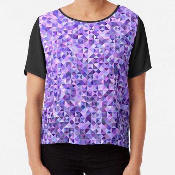 Ornamental pattern with purple color Chiffon Top